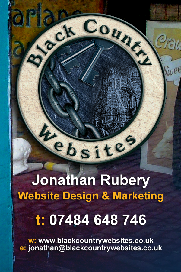 Front of the business card design for Black Country Websites - Creative Website designers in the West Midlands