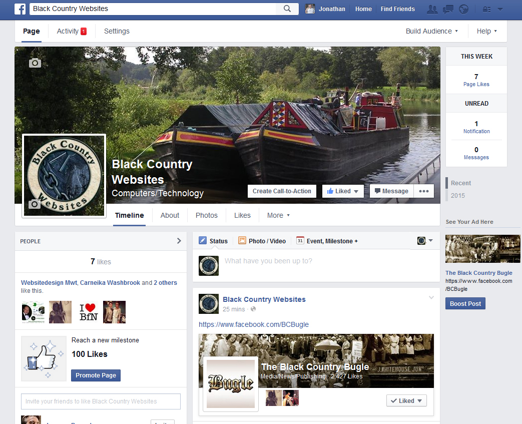 Black Country Websites Facebook Page Launched